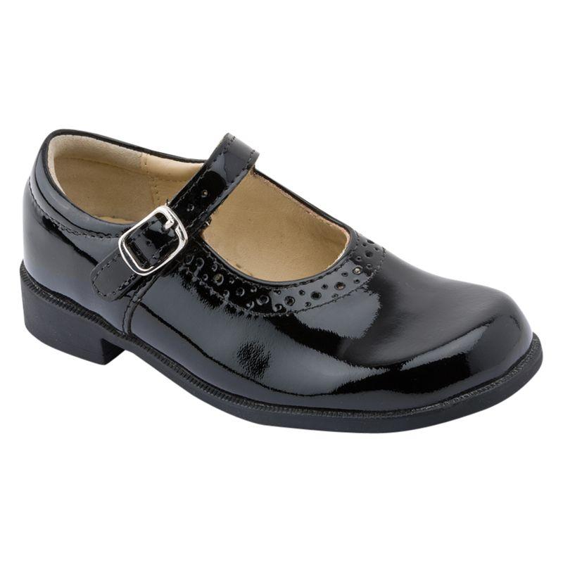Start-Rite Start-rite Children's Louisa Leather Patent Buckle Shoes, Black