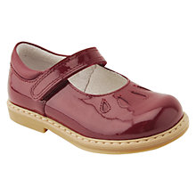 Buy Start-rite Children's Tamara Leather Rip-tape School Shoes, Wine Online at johnlewis.com