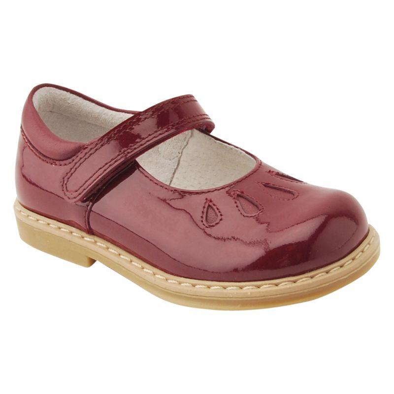 Start-Rite Start-rite Children's Tamara Leather Rip-tape School Shoes, Wine