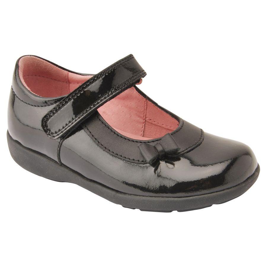 Start-Rite Start-rite Children's Maria Riptape School Shoes, Black Patent