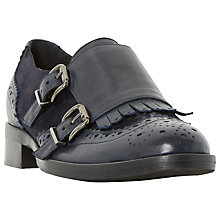 Buy Dune Fiona Fringe Detail Brogue Monk Shoes Online at johnlewis.com