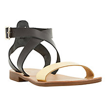 Buy Dune Lotti Leather Flat Cross Strap Sandals Online at johnlewis.com