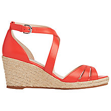 Buy L.K. Bennett Priya Wedge Heeled Sandals, Flamingo Online at johnlewis.com