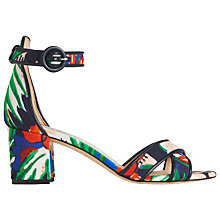 Buy L.K. Bennett Aniki Block Heeled Sandals, Navy Online at johnlewis.com