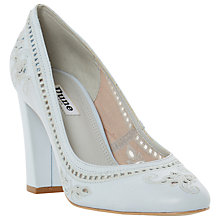 Buy Dune Bethanee Block Heeled Court Shoes, Pale Blue Online at johnlewis.com