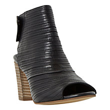 Buy Dune Jayda Peep Toe Boot Sandals, Black Leather Online at johnlewis.com