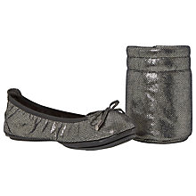 Buy Dune Manhattan Fold-Up Sequin Ballerinas Online at johnlewis.com