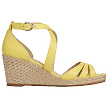 Buy L.K. Bennett Priya Wedge Heeled Sandals, Yellow Online at johnlewis.com