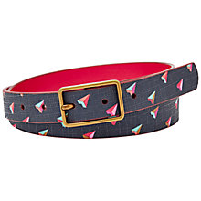 Buy Fossil Printed Hearts Leather Jeans Belt Online at johnlewis.com