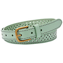 Buy Fossil Dot Perforated Leather Belt Online at johnlewis.com