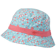 Buy Fat Face Children's Floral Bucket Hat, Dusky Aqua Online at johnlewis.com