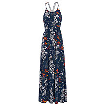 Buy Whistles Bluebell Silk Buena Maxi Dress, Blue/White Online at johnlewis.com