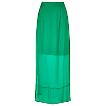 Buy Phase Eight Cosima Silk Maxi Skirt, Emerald Online at johnlewis.com