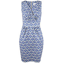 Buy Closet Floral Cross Over Dress, Blue Online at johnlewis.com