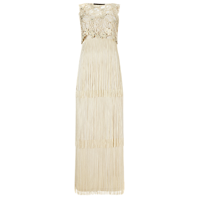 Phase Eight Collection 8 Lucille Fringe Maxi Dress, Champagne