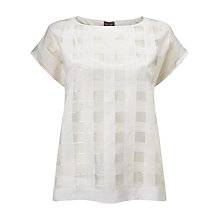 Buy Phase Eight Marlena Check Top, Ivory Online at johnlewis.com