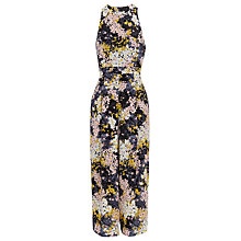 Buy Whistles Wild Floral Silk Jumpsuit, Multi Online at johnlewis.com