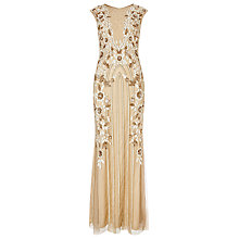 Buy Phase Eight Collection 8 Minerva Flower Maxi Dress, Nude/White Online at johnlewis.com