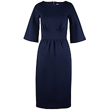 Buy Closet Kimono Sleeve Textured Midi Dress, Navy Online at johnlewis.com