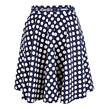 Buy Closet Polka Dot Swing Skirt, Navy Online at johnlewis.com