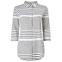Buy Phase Eight Montana Stripe Shirt, Chambray/Ivory Online at johnlewis.com