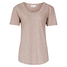 Buy Reiss Lilith Round Neck T-Shirt, Rose Online at johnlewis.com