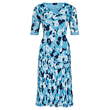 Buy Viyella Printed Crinkle Dress, Blue Online at johnlewis.com