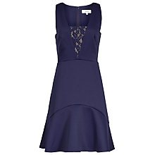 Buy Reiss Fit And Flare Dress, Indigo Online at johnlewis.com