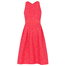 Buy Whistles Bonded Lace Dress, Pink Online at johnlewis.com