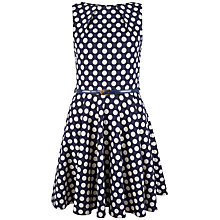 Buy Closet Polka Dot Dress, Navy Online at johnlewis.com