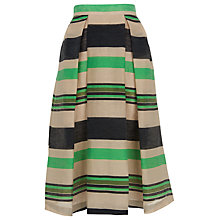 Buy Whistles Miriam Stripe Midi Skirt, Multicolour Online at johnlewis.com