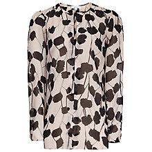 Buy Reiss Tarrin Printed Top, Neutral/Black Online at johnlewis.com