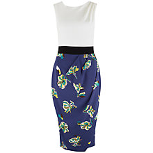 Buy Closet Floral Tie Dress, Multi Online at johnlewis.com