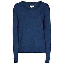 Buy Reiss Finola Round Neck Jumper, Bright Blue Online at johnlewis.com