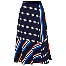 Buy Whistles Multi Stripe Asymmetric Skirt, Multicolour Online at johnlewis.com