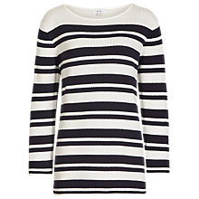 Buy Reiss Amalfi Striped Top, White/Blue Online at johnlewis.com