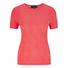Buy Viyella Petite Palm Texture Jumper, Watermelon Online at johnlewis.com