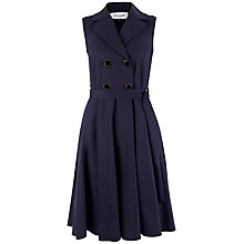 Buy Closet Double Breasted Button Dress, Navy Online at johnlewis.com