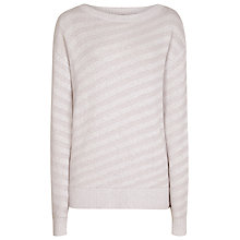 Buy Reiss Diva Tonal Stripe Jumper, Warm Storm Online at johnlewis.com