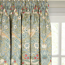 Buy Morris & Co Strawberry Thief Lined Pencil Pleat Curtains Online at johnlewis.com