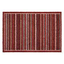 Buy John Lewis Ecoflex Doormat, Red Stripe Online at johnlewis.com