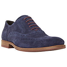 Buy Dune Budleigh Colour Pop Suede Brogues Online at johnlewis.com