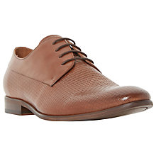 Buy Dune Ramsden Woven Embossed Lace-Up Derby Shoes, Tan Online at johnlewis.com