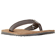 Buy Dune Ikes Suede Toepost Sandals, Brown Online at johnlewis.com