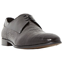 Buy Dune Razorback Contrast Vamp Leather Derby Shoes, Black Online at johnlewis.com