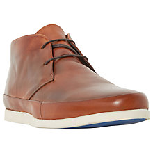 Buy Bertie Clyde Leather Lace-Up Chukka Boots, Tan Online at johnlewis.com
