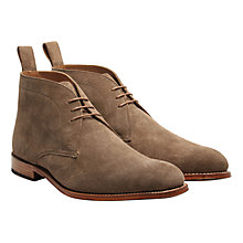 Buy Grenson Marcus Suede Chukka Boots, Almond Online at johnlewis.com