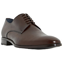 Buy Dune Black Redgraves Chisel Toe Leather Derby Shoes Online at johnlewis.com