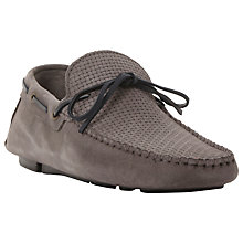 Buy Bertie Benzel Woven Laced Driving Loafers, Grey Online at johnlewis.com