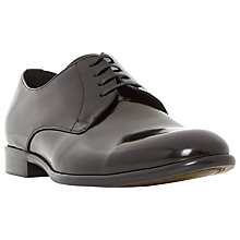 Buy Dune Redmayne Leather High Shine Derby Shoes, Black Online at johnlewis.com